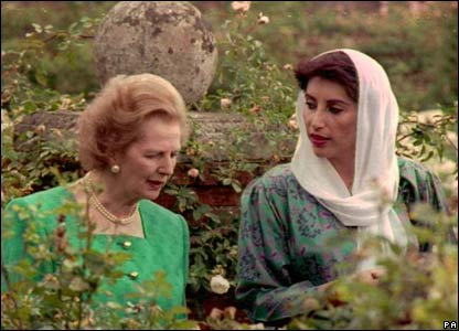 Margaret Thatcher and Benazir Bhutto