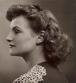 My mother in the late 1940s