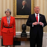 Trump and May